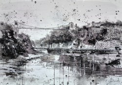 Cliffton Suspension Bridge, Bristol by Tim Steward -  sized 39x28 inches. Available from Whitewall Galleries